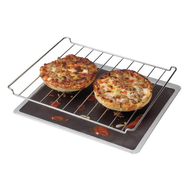 And if you really hate cleaning your oven, consider buying an oven liner or keeping an old baking sheet on a rack at the lowest setting.