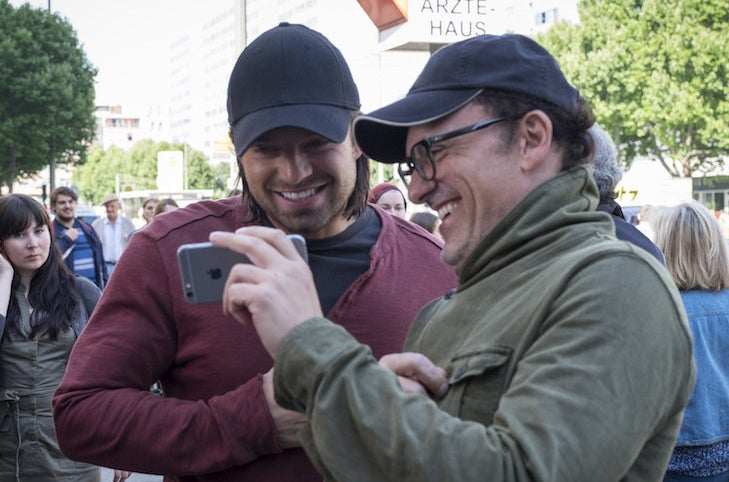 Sebastian Stan and director Anthony Russo.