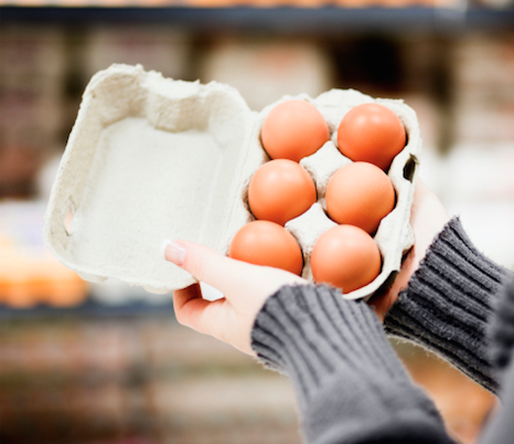 Grocery store - Checking egg carton