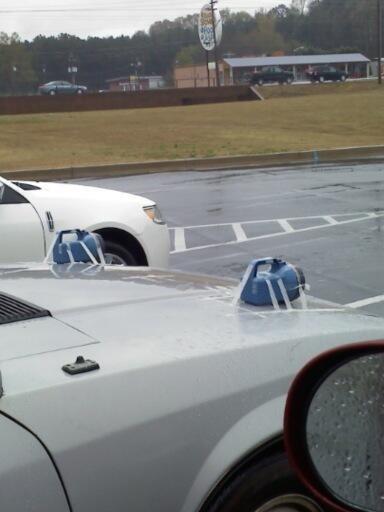 This car's headlights: