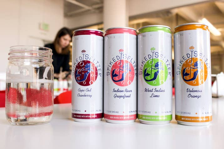 Press alcoholic seltzer for Sparkling water mixed drinks