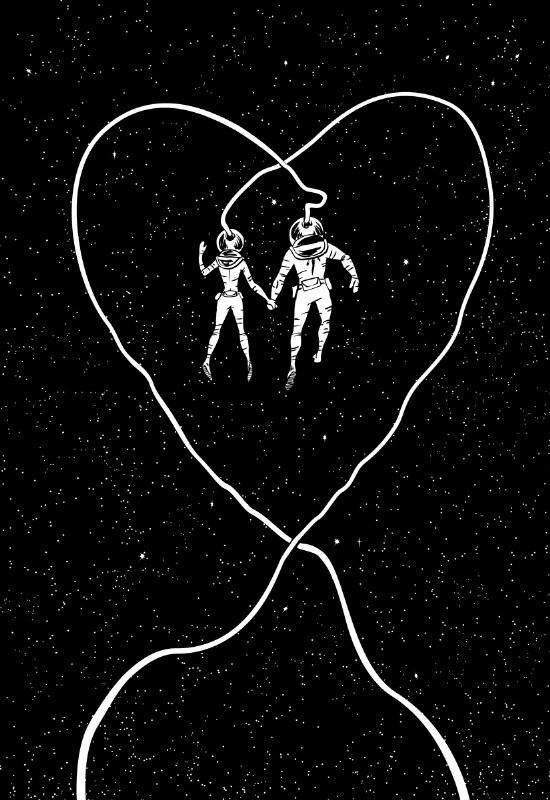 """Space Love"", de Scott Brian madeiras"