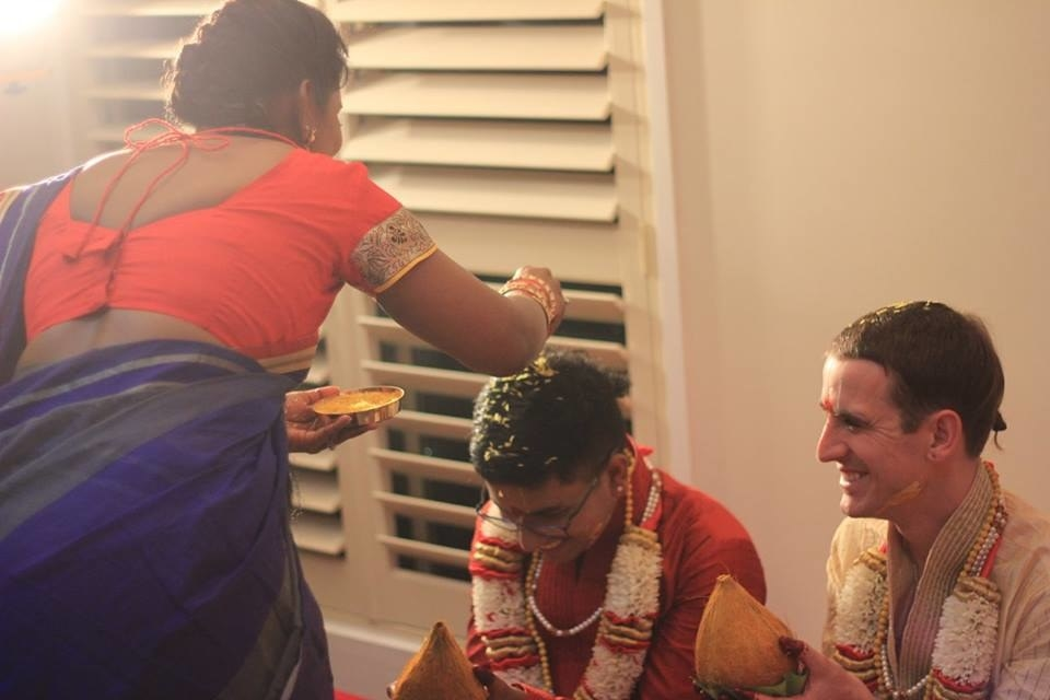 "McCane, who follows Hinduism, said, ""I had dreamed of a huge Telugu function like you see in the movies with women all in nine-yard saris, countless sweet dishes, dancers and singers and surrounded by family."""