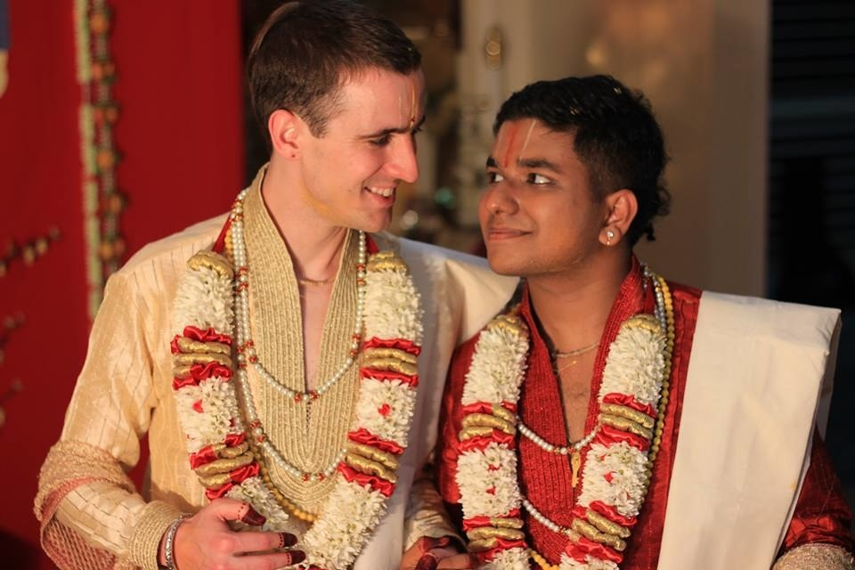 John McCane and Salaphaty Rao met on a Facebook group for LGBT Hindus and fell in love.