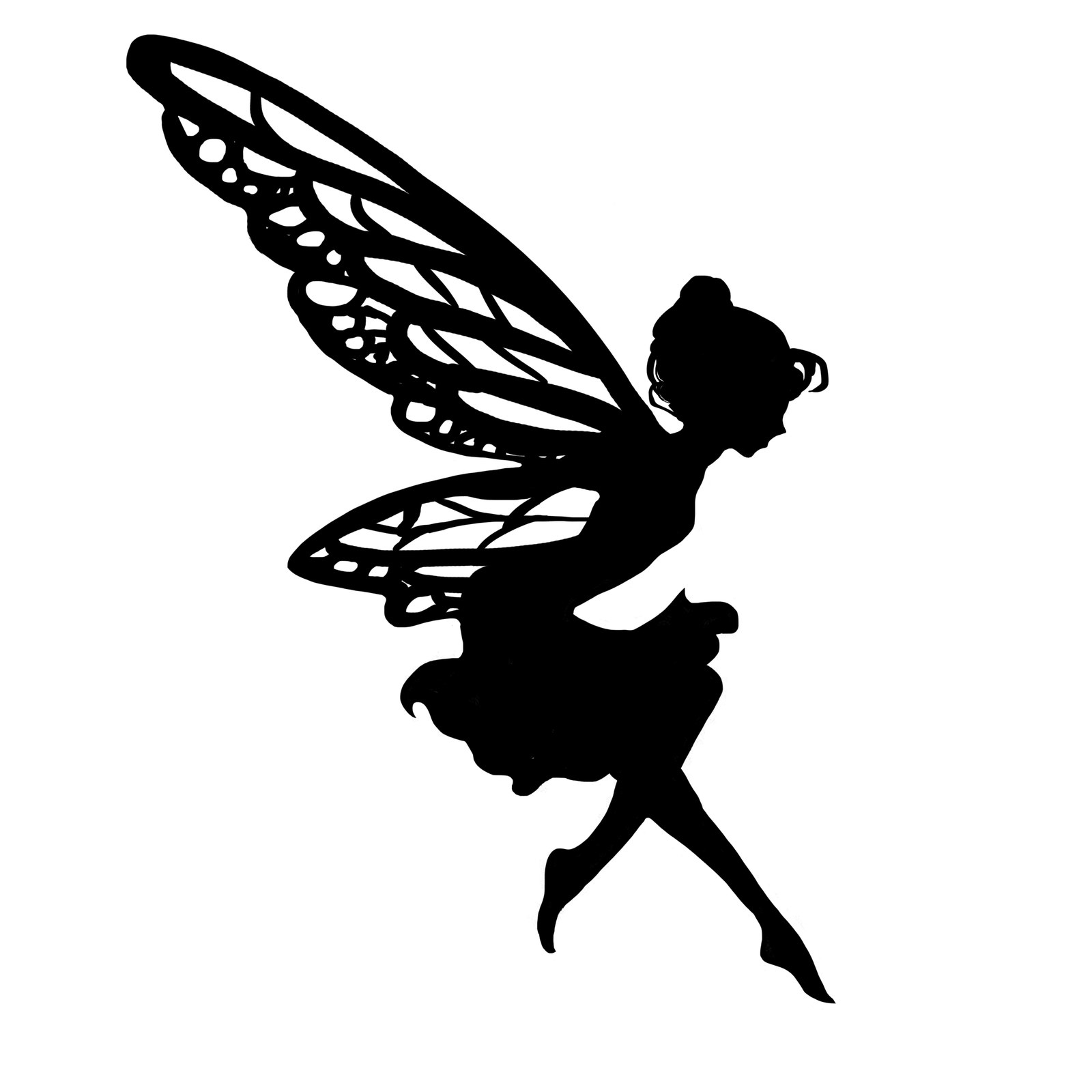 graphic relating to Printable Fairy Silhouettes titled Mild Up Your Small children Evening With This sort of Magical Fairy Lanterns