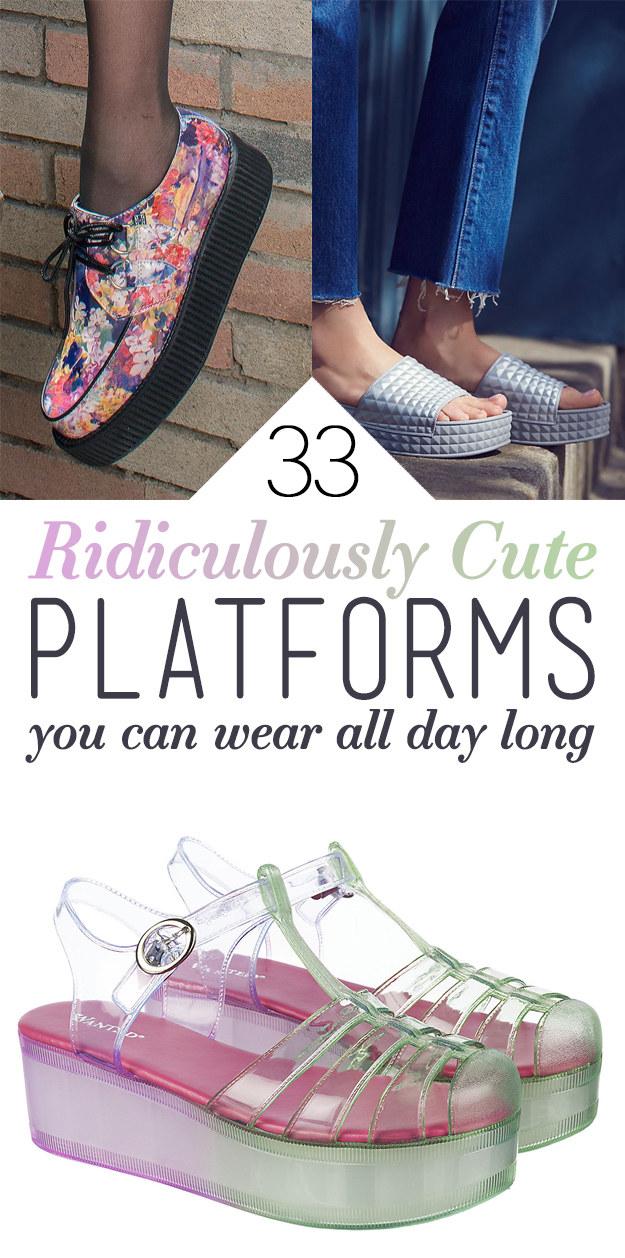 33 Cute Platform Shoes You'll Actually