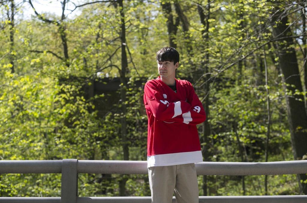 Derrick Hill, 29, of Lake Villa, playing Cameron Frye.