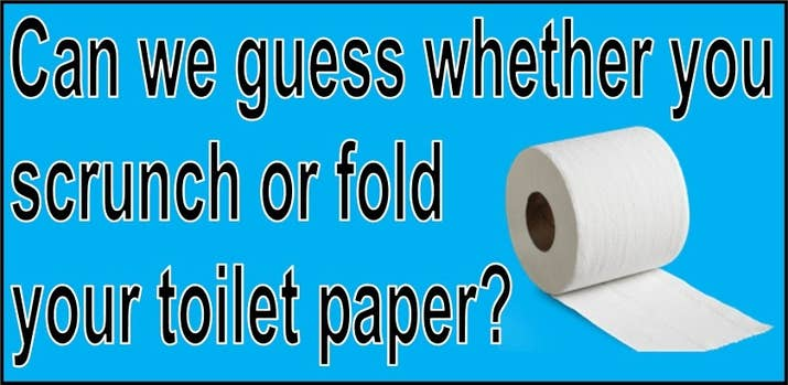 Can We Guess If You Scrunch Or Fold Your Toilet Paper?