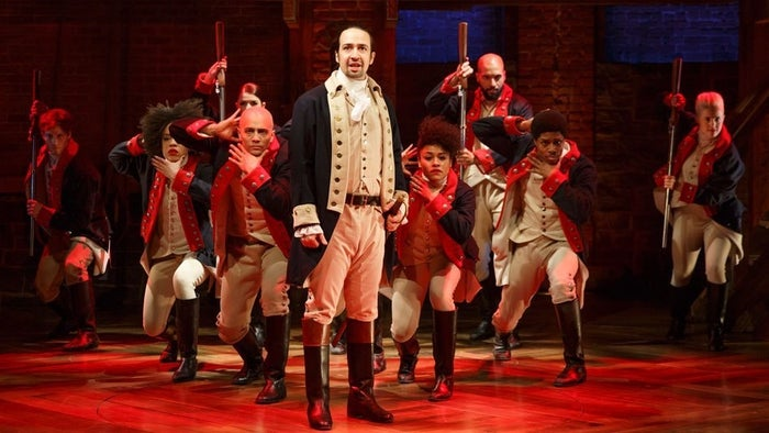 The cast of Hamilton.