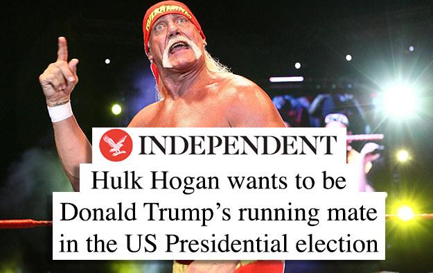 Whatcha gonna do when Hulkamania Runs for VP?