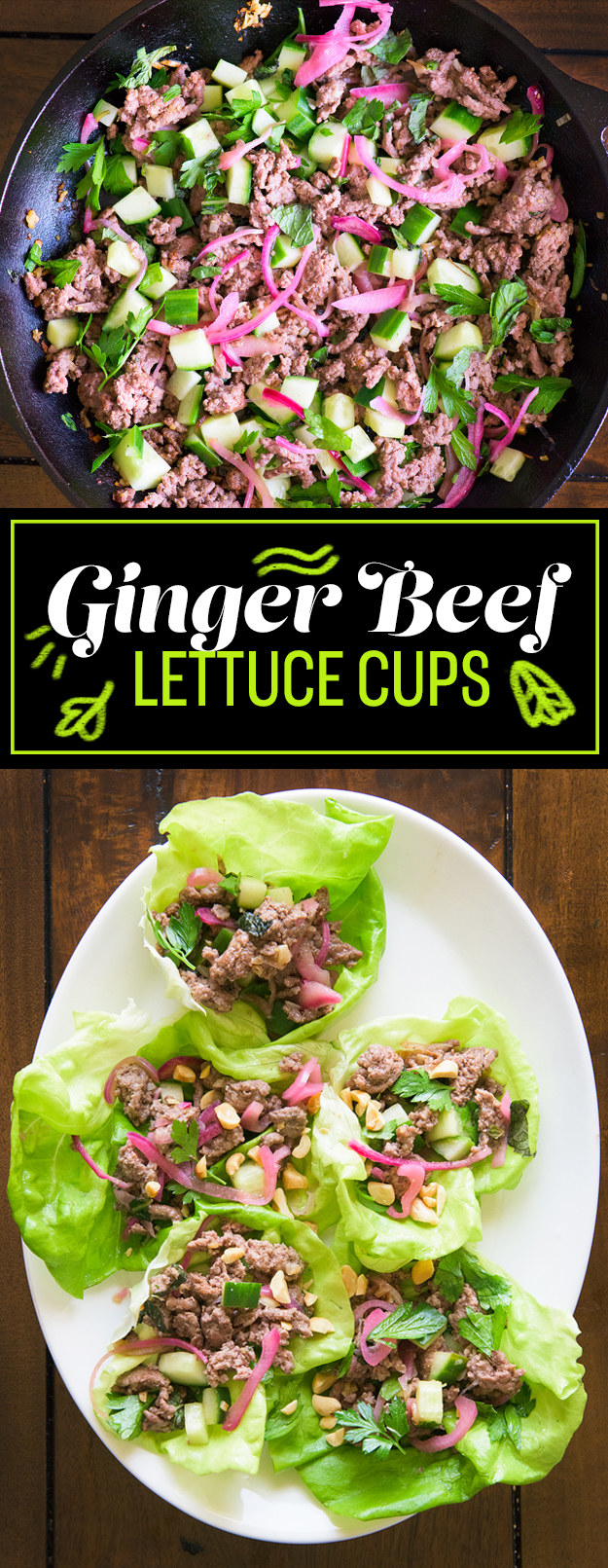 MONDAY: Ginger Beef Lettuce Cups