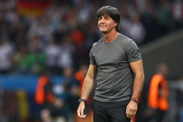 This is Joachim Löw. He's the coach of the German football team currently playing in the 2016 Euros. Some very disturbing footage of Löw was taken during Sunday's game between Germany and Ukraine.