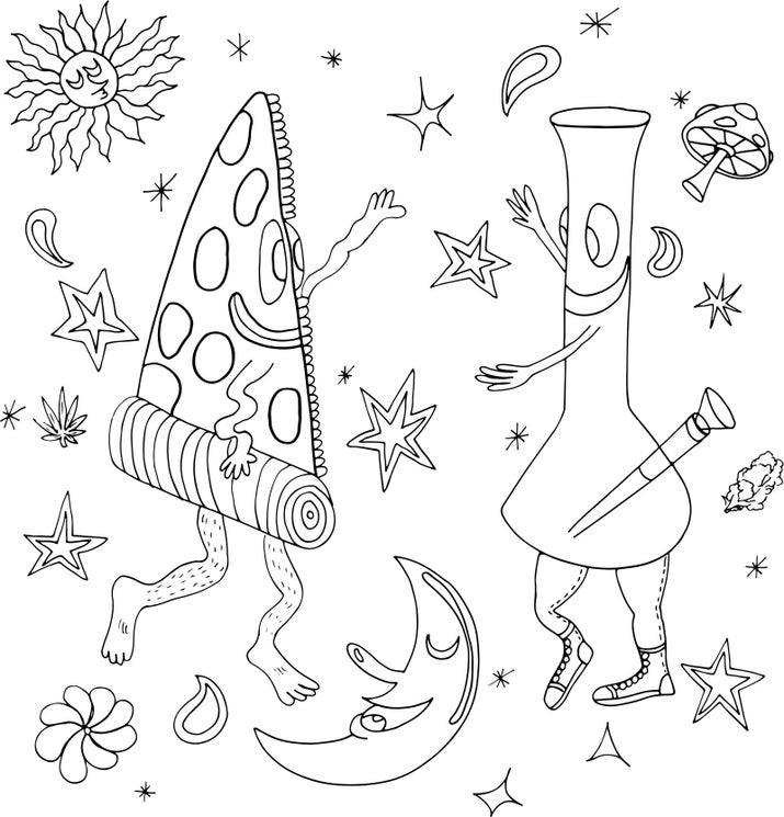 Every Stoner Needs This Hilarious Coloring Book
