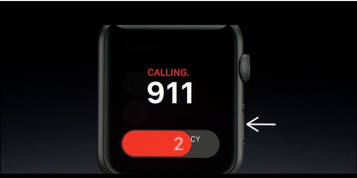 New emergency alert feature in the latest Apple Watch update.