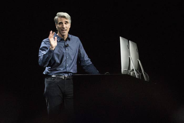 Craig Federighi, Apple's vice president of software engineering and ur-Apple Man.