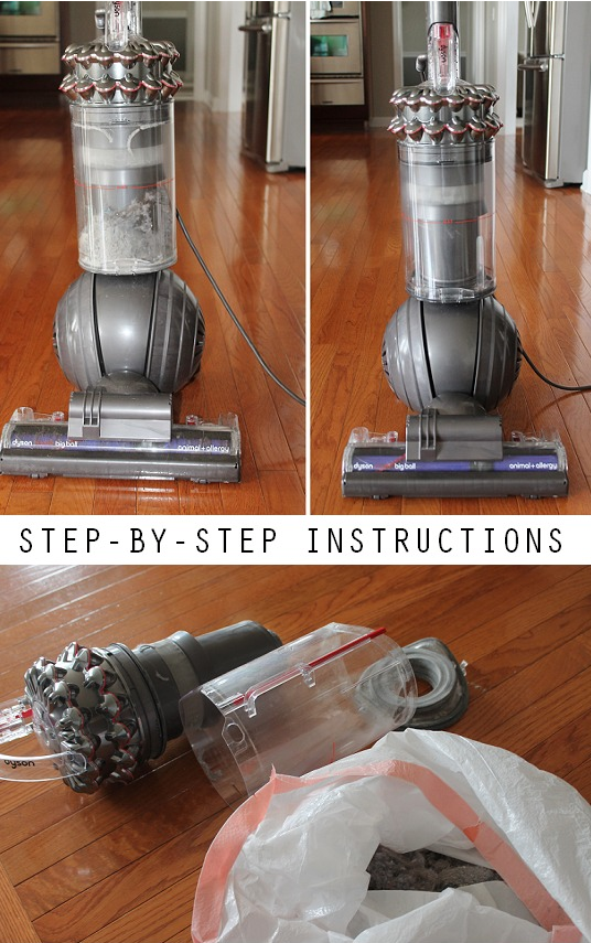 Sanitize and clean your vacuum cleaner BEFORE you vacuum all of the carpets and floors in the house.