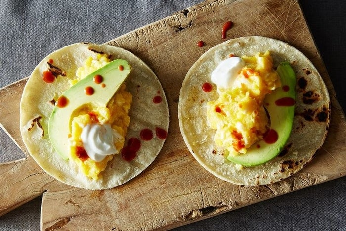 Breakfast tacos = the unsung hero of Father's Day brunch. Get the recipe.