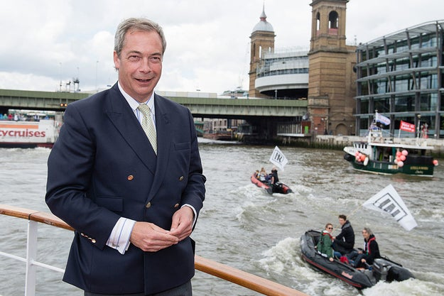 "And this is the ""admiral"" of the Leave flotilla. His name is Nigel Farage, and he's the leader of the UK Independence Party, which, as its name suggests, wants us to get out of the European Union."