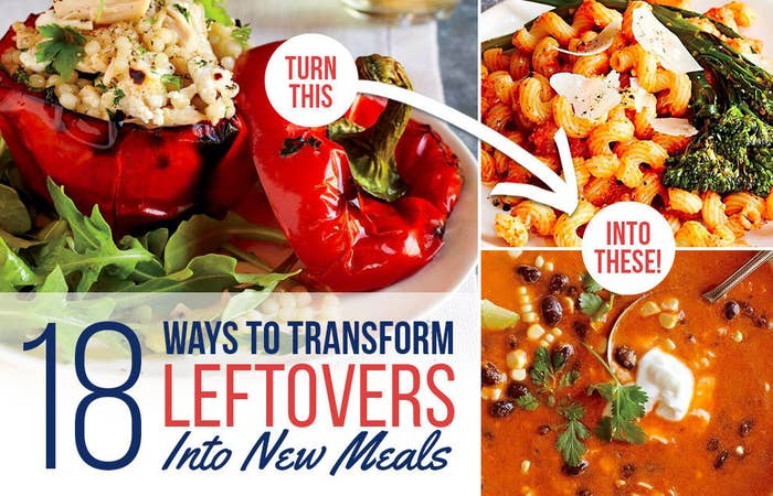 Here, you'll find basic dinner recipes that make enough leftovers to be repurposed into two entirely new meals! Get the recipes here.
