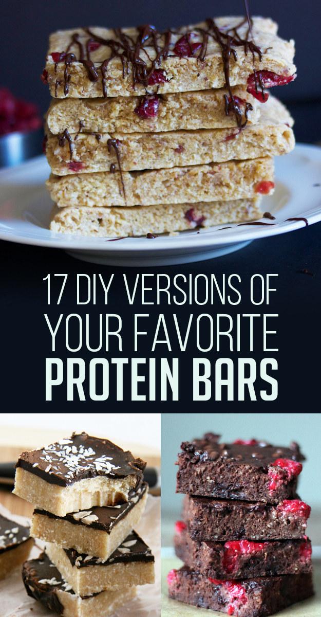Las barras de proteína son un desayuno o merienda muy práctico para llevar, pero a veces están llenos de montones de ingredientes extraños. ¡Mejor prepara las tuyas!