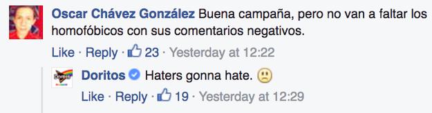 Aquí no hay lugar para el odio.