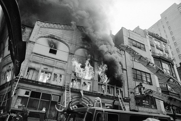 Fire at the Everard Baths, May 25, 1977.
