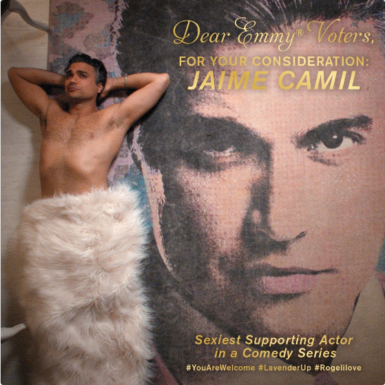 """Well, Jaime is vying for the prestigious """"Sexiest Supporting Actor"""" Emmy nomination. Rogelio de la Vega's official Twitter account (run by The CW) just tweeted out this super thirsty FYC ad:"""