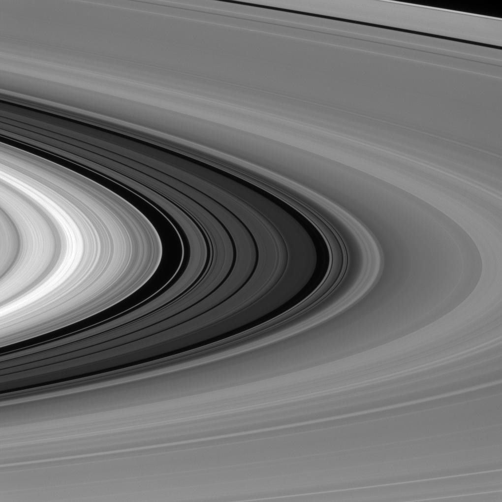 9. Eine Lücke zwischen Saturns Ringen.