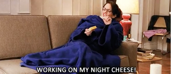 And there's nothing better than curling up in a Snuggie and gnawing on a hunk of cheddar.