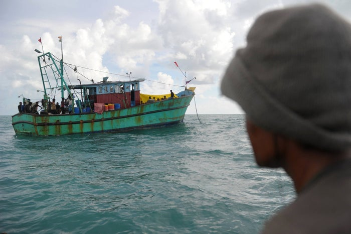 Those on board were trying to reach the Australian territory of Christmas Island. The have been moored off the Indonesia province of Aceh for a week.