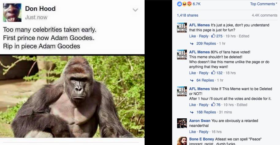 sub buzz 12273 1464840523 1?downsize=715 *&output format=auto&output quality=auto facebook memes compare aboriginal athlete to gorilla that was