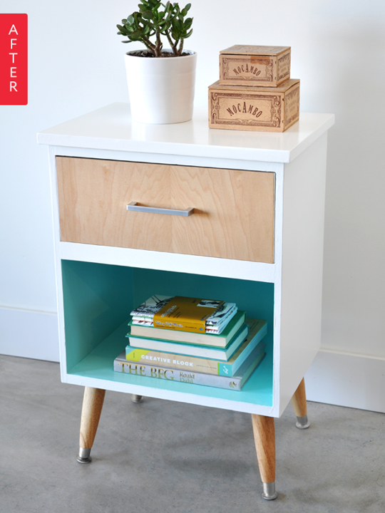 Paint the inside shelves of your furniture for a fun focal point.