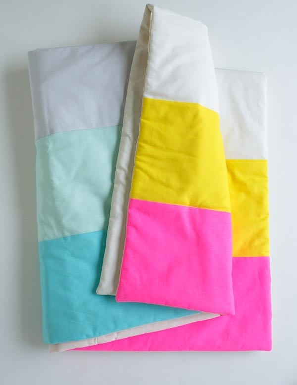 And if you're feeling extra crafty, try sewing this super easy blanket to drape over your bed.
