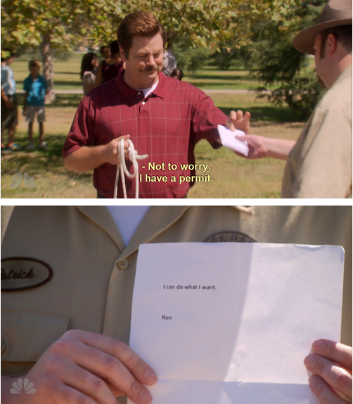 So we were wondering: What's your favorite Ron Swanson quote?