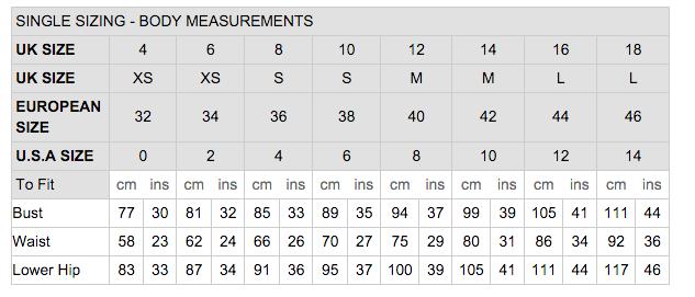 Boohoo Size Chart