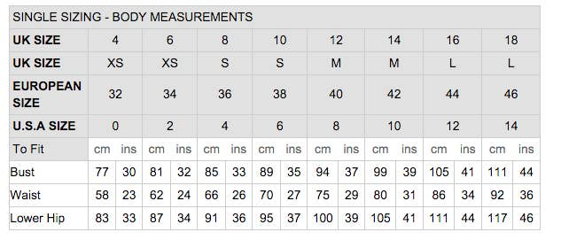 New Look S Size Guide Shows The Diffe Measurements