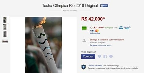 After that, the torch showed up on Mercado Livre, which is sort of like Brazilian eBay, at MODEST prices.