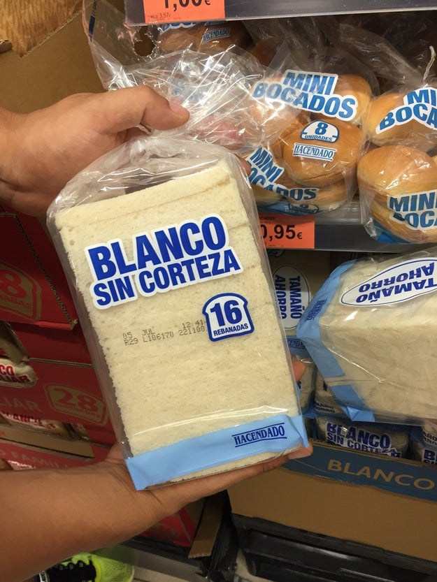 Este pan que se vende sin corteza.