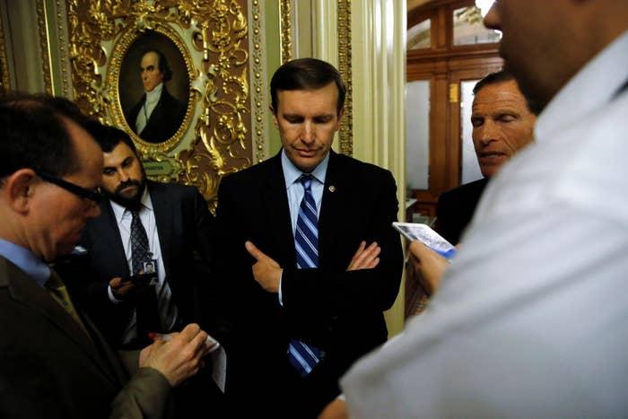 Senators Chris Murphy and Senator Richard Blumenthal.