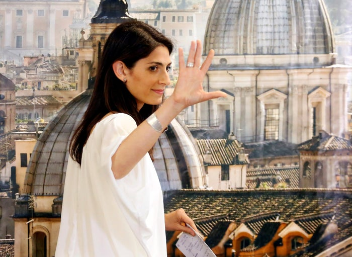 Rome's newly elected mayor Virginia Raggi.