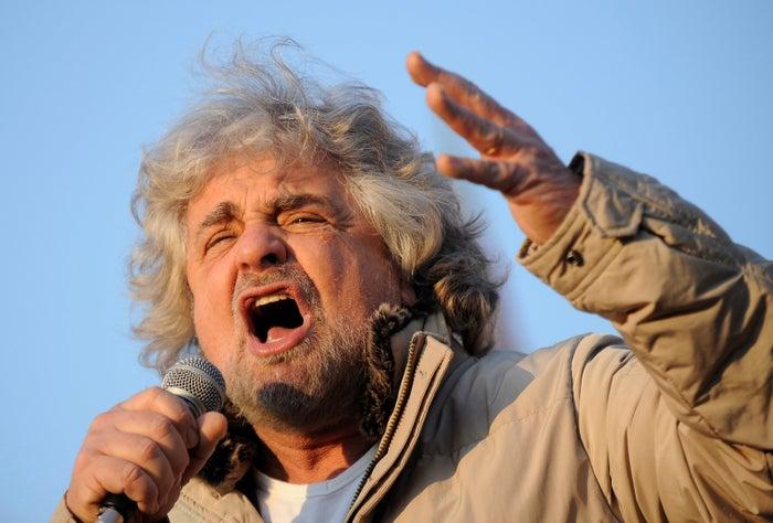 Five-Star Movement leader Beppe Grillo.