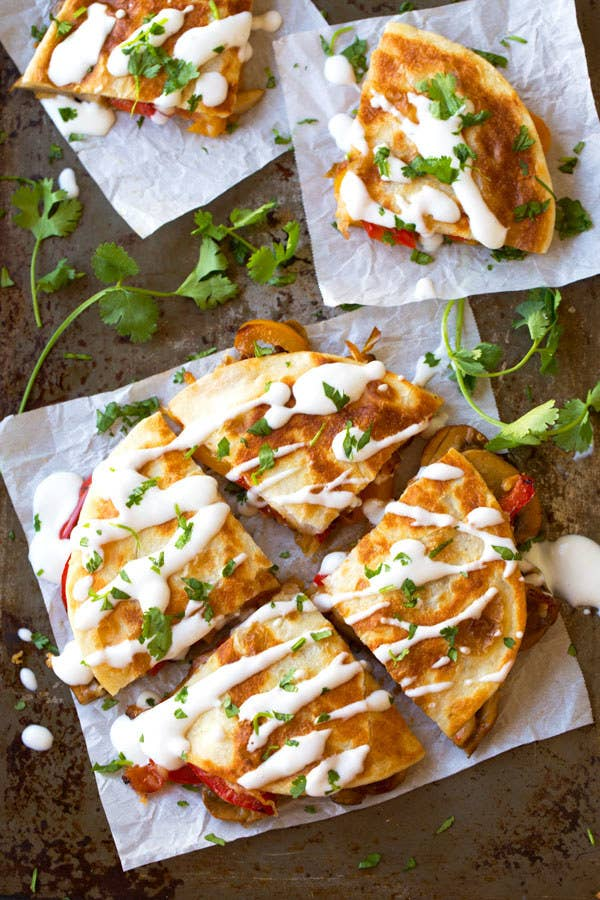 If you can't find smoked Gouda, try smoked cheddar. The smoky flavor makes this veggie quesadilla taste extra hearty. Get the recipe here.