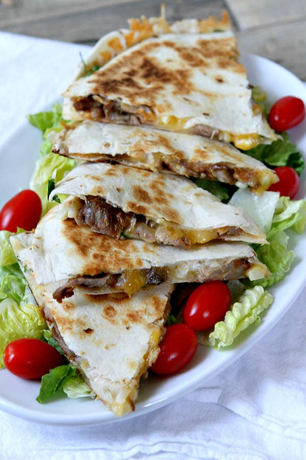 Corn in your quesadilla is kind of unusual, but I'm into it. Get the recipe here.