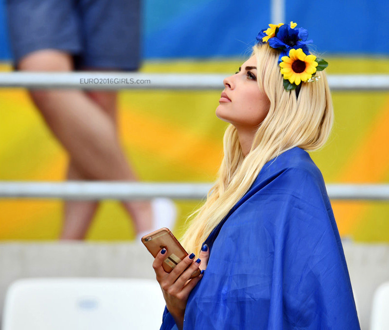 EURO 2016: Ukrainian Girl Stole The Show At The Ukraine