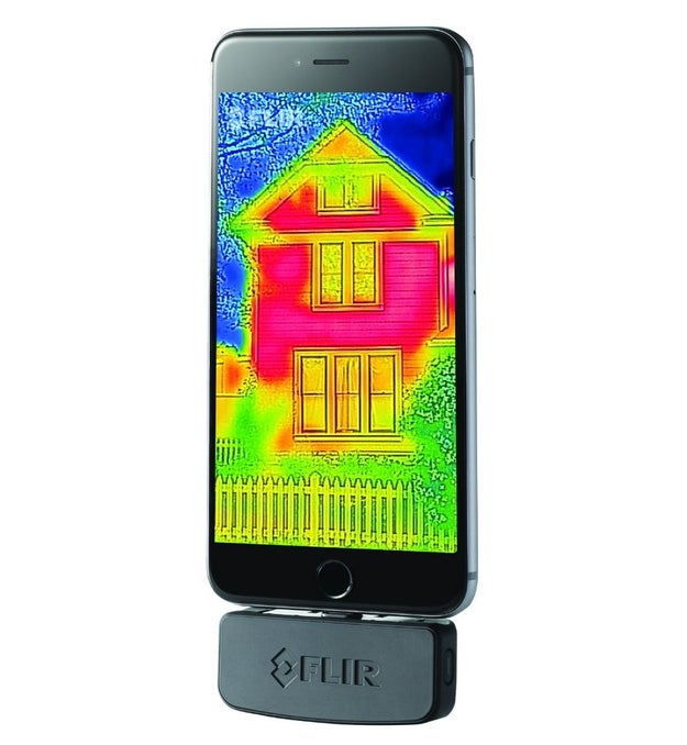 A thermal imaging device that allows you to scan for things like dangerous heat levels and burst pipes, but also to just take really cool pictures and videos.