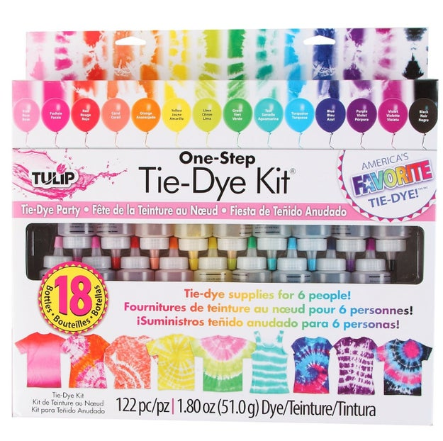 A tie-dye kit with 14 colors that would make for the greatest weekend craft day ever.