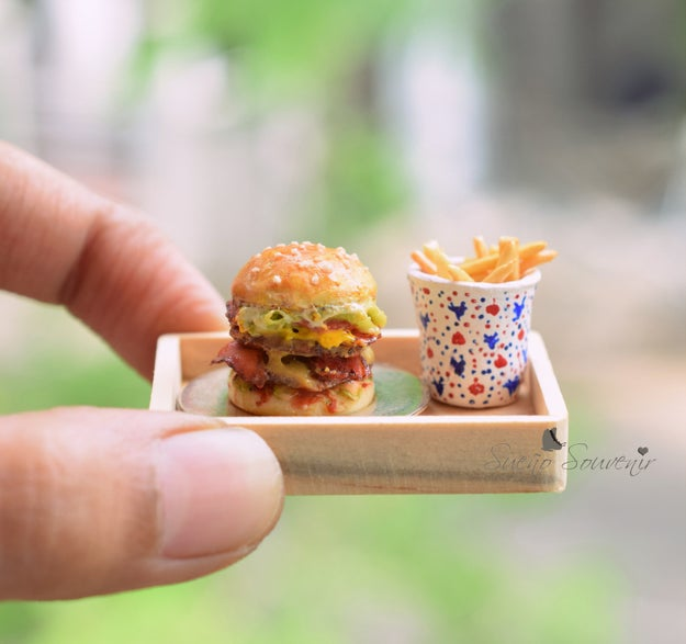 """""""I was experimenting with paper & clay and one fine day I decided to make myself a pair of burger earrings. It just started there,"""" she added."""