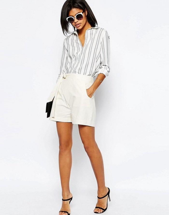 Price: £25Sizes: 4-18 Channel your inner Olivia Pope in these sleek side-tied shorts.