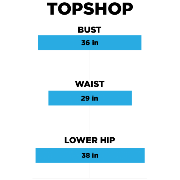 We Checked And Women S Clothes Sizes At H M Zara And Topshop Are