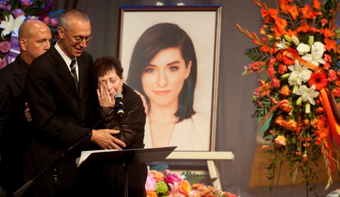 Christina Grimmie's parents at her memorial service in New Jersey